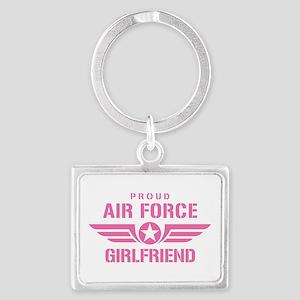 Proud Air Force Girlfriend W [pink] Landscape Keyc
